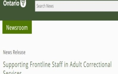 Supporting Frontline Staff in Adult Correctional Services