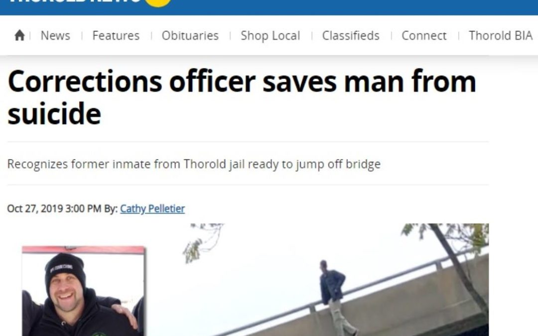 Corrections officer saves man from suicide