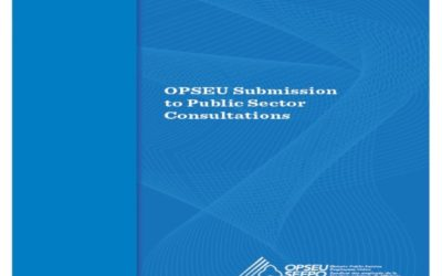 OPSEU submission on Public Sector Consultations