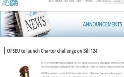 OPSEU to launch Charter challenge on Bill 124